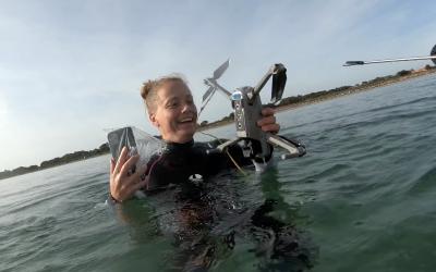 Min drone styrtede i havet!