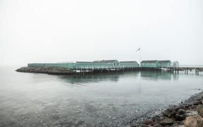 En diset morgen ved Charlottenlund Søbad