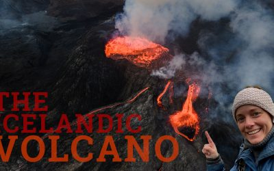 Volcano experiences – the drone was in the air!