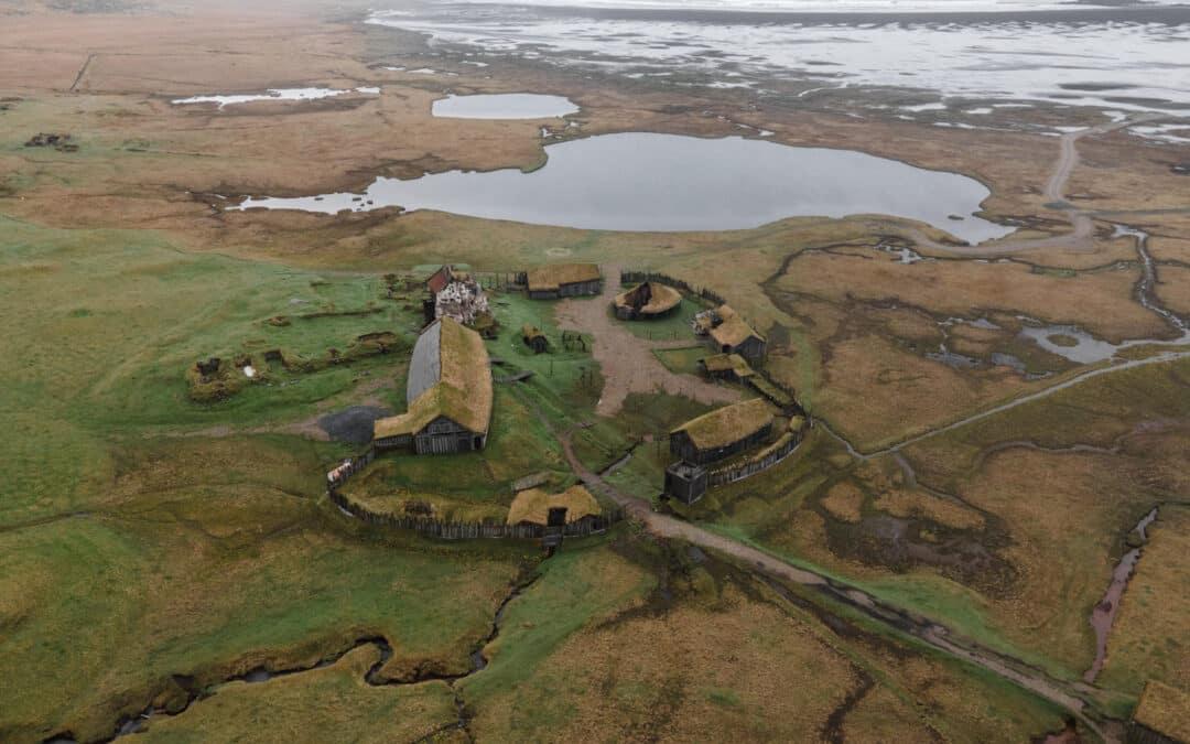 Viking landsbyen ved Vestrahorn