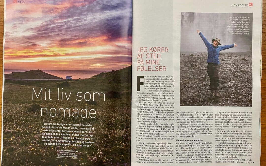 Article in the weekly magazine SØNDAG