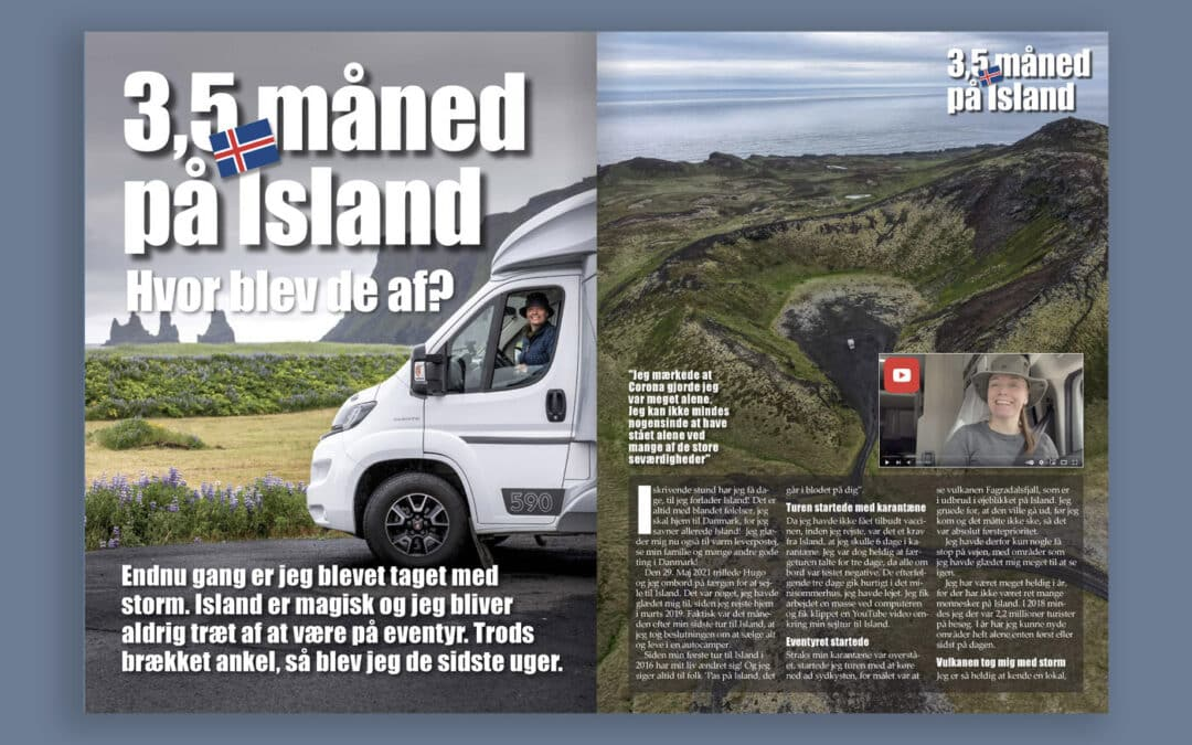Campingbladet: 3,5 month on Iceland